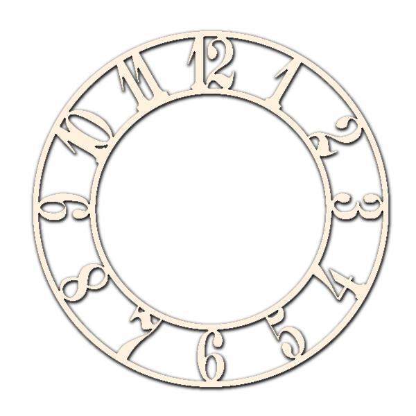 Циферблат за часовник 25см - Арабски цифри