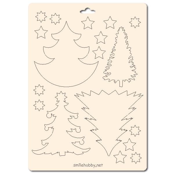 Сет от бирен картон 15х20см - Коледа 1