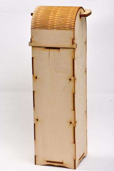Кутия за вино 36,5 х 10 х 10 см - чиста