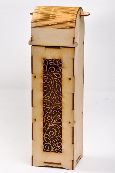 Кутия за вино 36,5 х 10 х 10 см - флорална