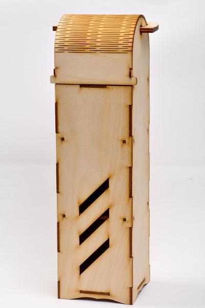 Кутия за вино 36,5 х 10 х 10 см - с прорези
