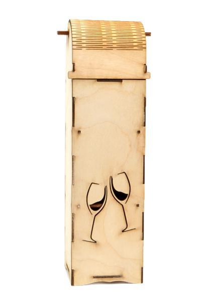 Кутия за вино 36,5 х 10 х 10 см - чаши