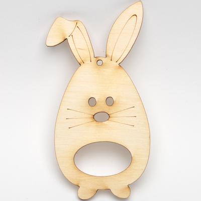 Дървено зайче - висулка