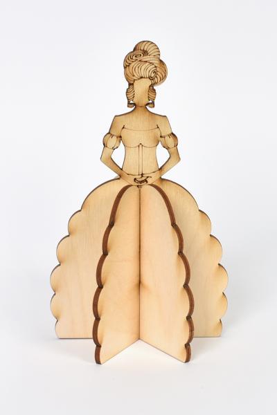 3D Дървена кукла - Принцеса