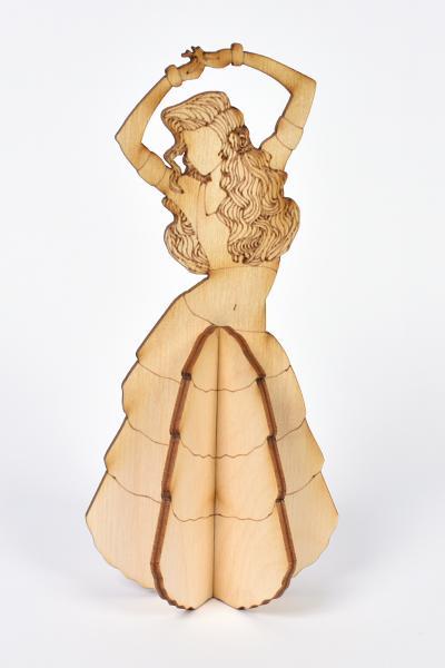 3D Дървена кукла - Танцьорка
