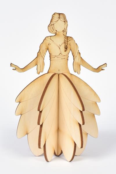 3D Дървена кукла - Фея