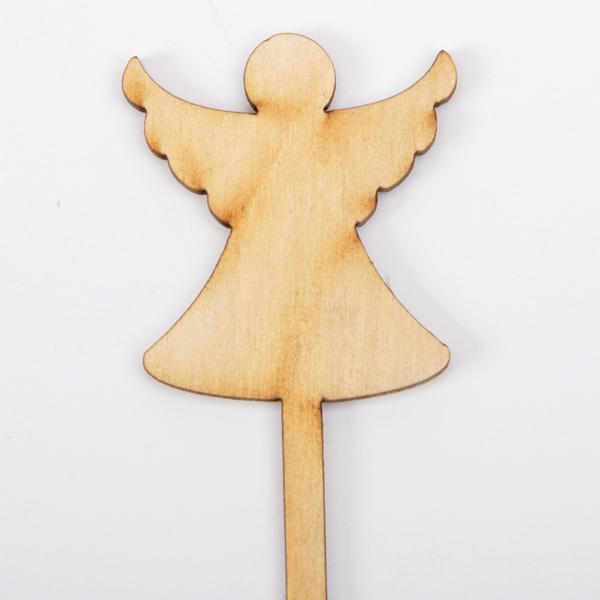 Дървена табелка на клечка  - Ангелче