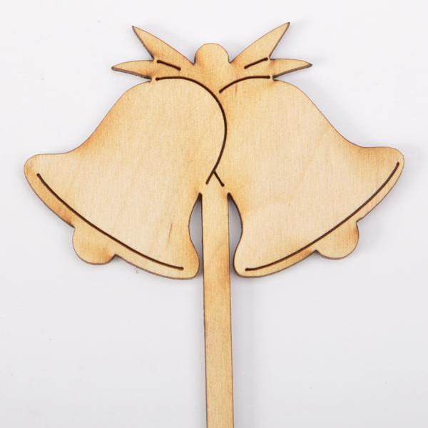 Дървена табелка на клечка - Камбанки