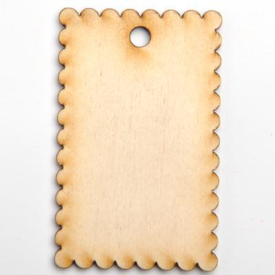 Дървен таг - бисквитка 5х8 см.