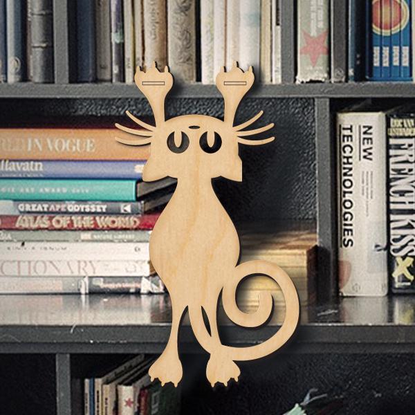 Дървена котка - висяща