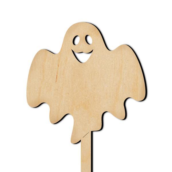Дървена табелка на клечка  - Хелоуинско духче