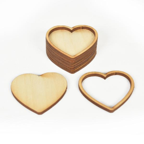 Основа за бижута - сърце 4,6 см. - 6 бр