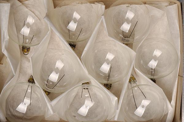 Прозрачна стъклена топка за елха - 5 см, кутия 9 бр. тънкостенна