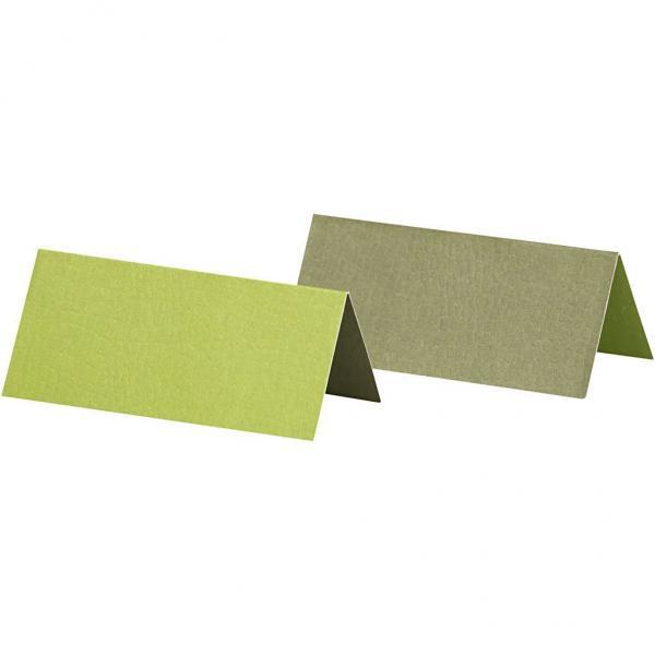 Табелки за маса двустранни- 9х4 см. 250гр. 25бр.-зелени
