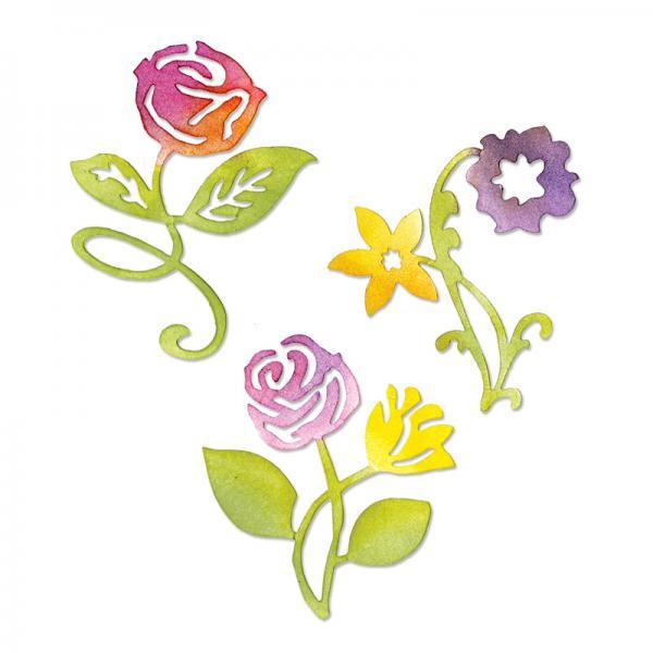 Щанци за изрязване - Sunrise Blossoms Flower Set