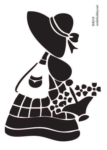 Шаблон за декупаж - 16x22.5cm - M4018