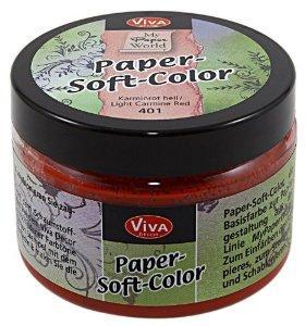 Мастило на водна основа Paper soft Color, 75мл - светло червен кармин