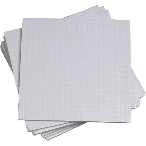 3D лепенки бели 5x5x1 mm, 1 лист 400 бр