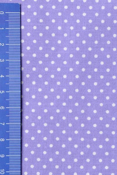 Памучен плат 50х50см - Малки бели точки на лилав фон