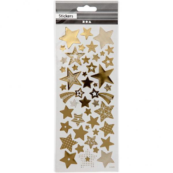 Самозалепващи стикери Gold stars 10х23 см