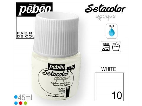 PEBEO Боя за текстил Setacolor Opaque 45 ml - white 010