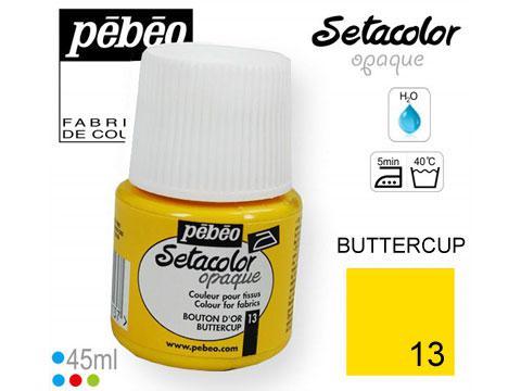 PEBEO Боя за текстил Setacolor Opaque 45 ml - buttercup 013