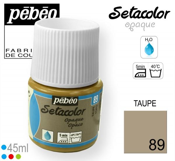 PEBEO Боя за текстил Setacolor Opaque 45 ml - taupe 089