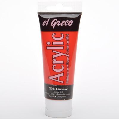 Акрил El Greco 75 мл Carmine Red