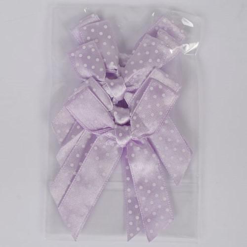 Декоративни панделки 12мм - 5бр- светло лилаво