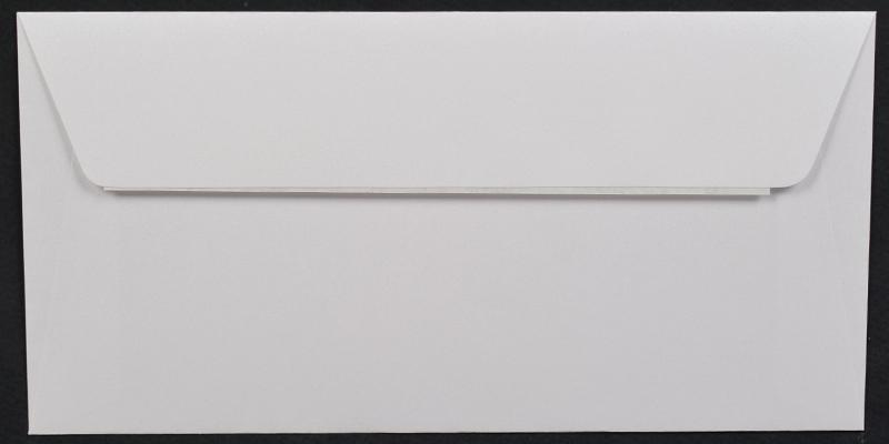 Луксозен плик за покана или пари - бял
