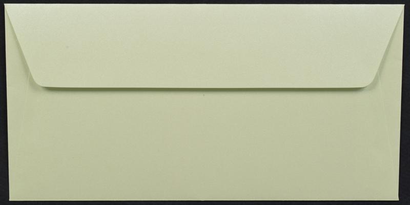 Луксозен плик за покана или пари - светло зелен