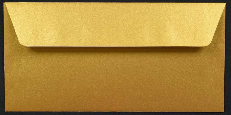 Луксозен плик за покана или пари - злато
