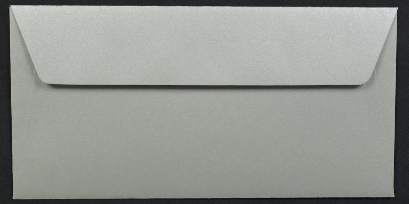 Луксозен плик за покана или пари - сребро