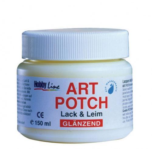 Art POTCH - Лак/лепило за салфетна техника 150 мл. - Гланц
