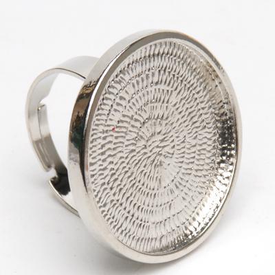Метална основа за бижу - пръстен кръг 24мм