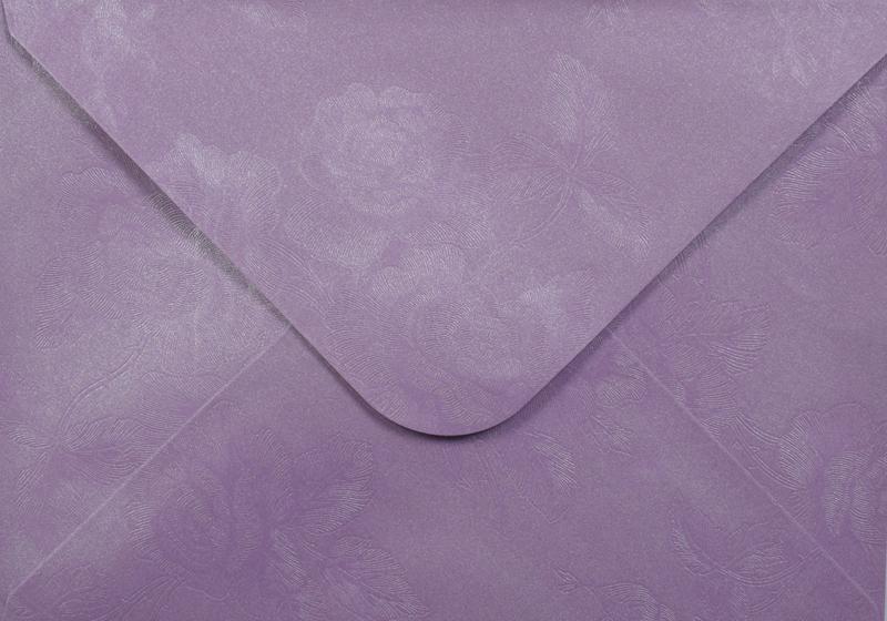Луксозен плик за покана или пари - светло лилав - 10бр