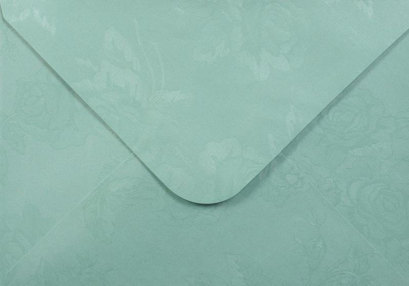 Луксозен плик за покана или пари - светло зелен - 10бр