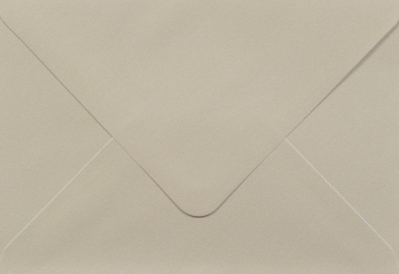 Луксозен плик за покана или пари -екрю - 10бр