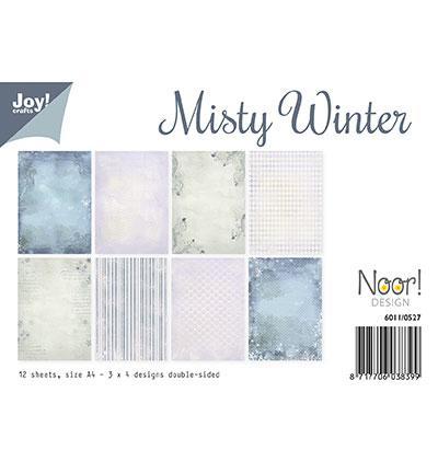 Комплект дизайнерски хартии А4, 12 листа - Misty Winter