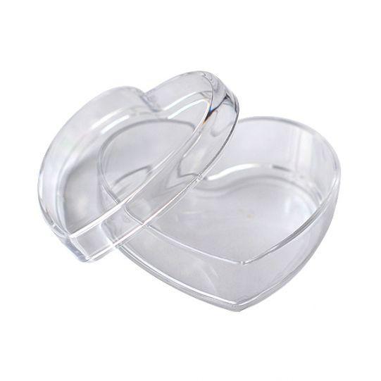 Пластмасова кутия сърце 6,5 см.