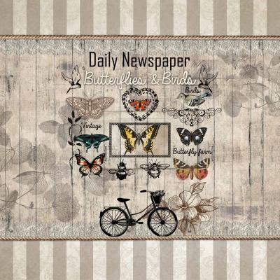 Салфетки-Daily Newspaper- NOUVEAU 33х33