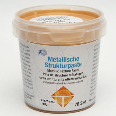 Металик структурна паста червено злато 150гр.