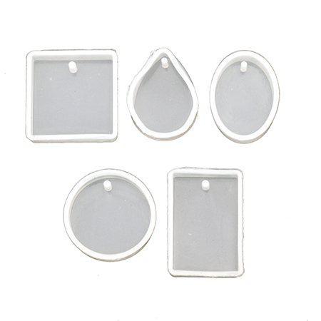 Силиконов молд /форма/ от 20x8 до 34x8 мм висулки за бижута 5 форми
