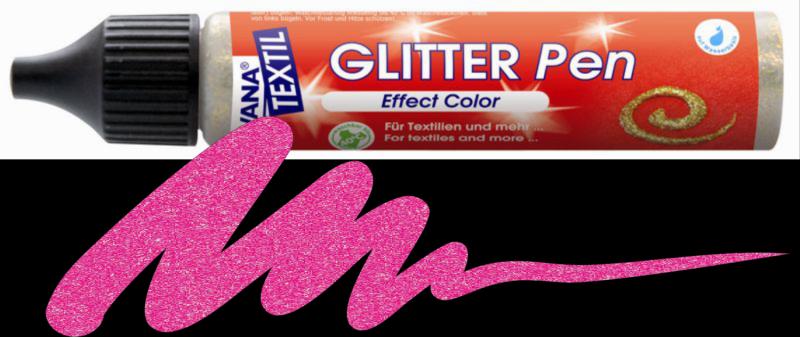 Javana Glitter Pen - Rose