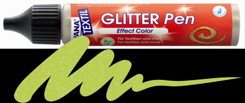Javana Glitter Pen - Mey Green