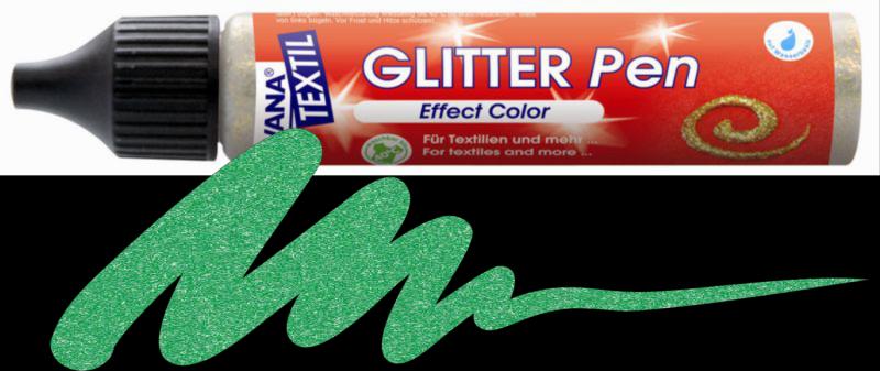 Javana Glitter Pen - Emerald Green