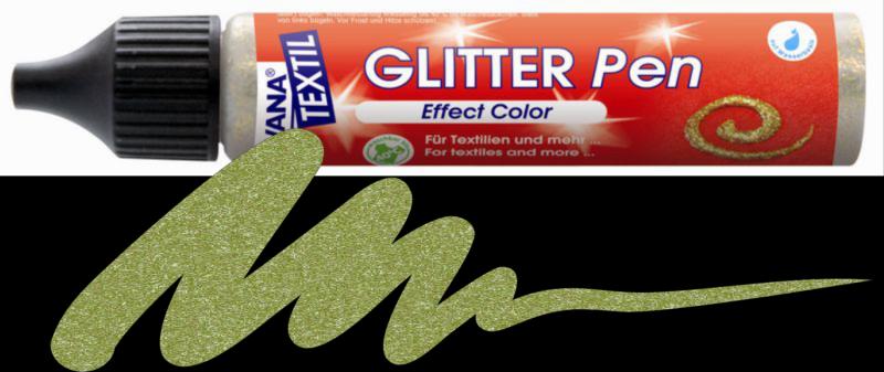 Javana Glitter Pen - Olive Green