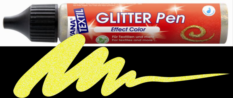 Javana Glitter Pen - Light Gold