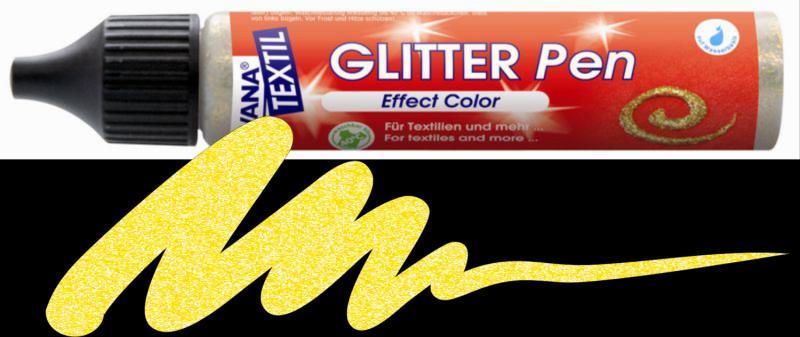 Javana Glitter Pen - Gold