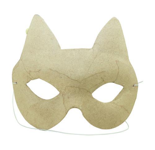 Маска от папие - маше с ластик- Котка